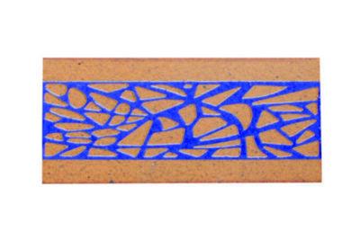 Glazed step riser tiles