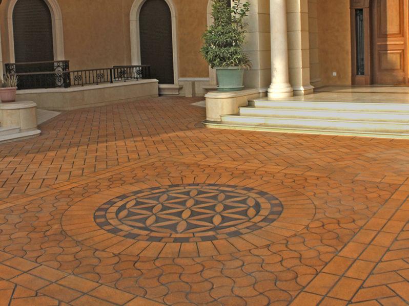 pavimento exterior rústico y decorativo de gres extrusionado antideslizante y duradero